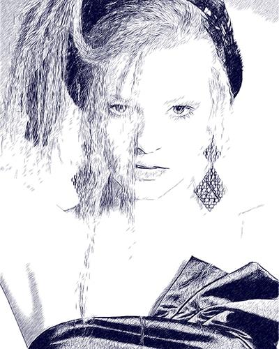 digitale Bleistift-Zeichnungen