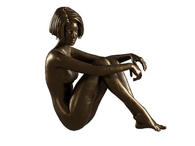 Skulptur Aglaia, Version in Bronze