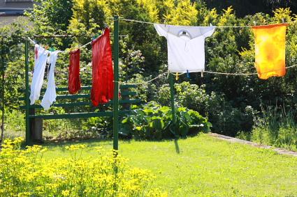Wäscheplatz am 25 Juni