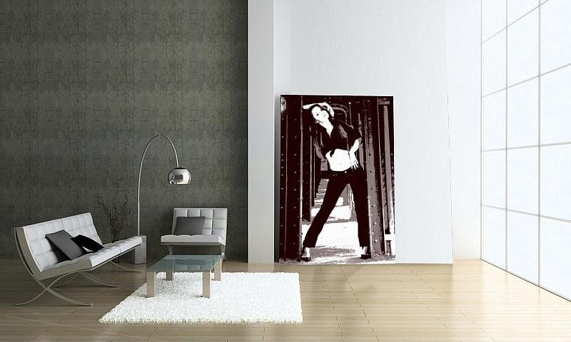 Pop-Art auf Acrylglas 120 x 80 cm