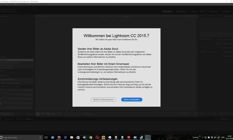 Lightroom CC (2015.7) startet nicht?