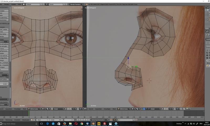 3D-Modellierung: Gesicht 1