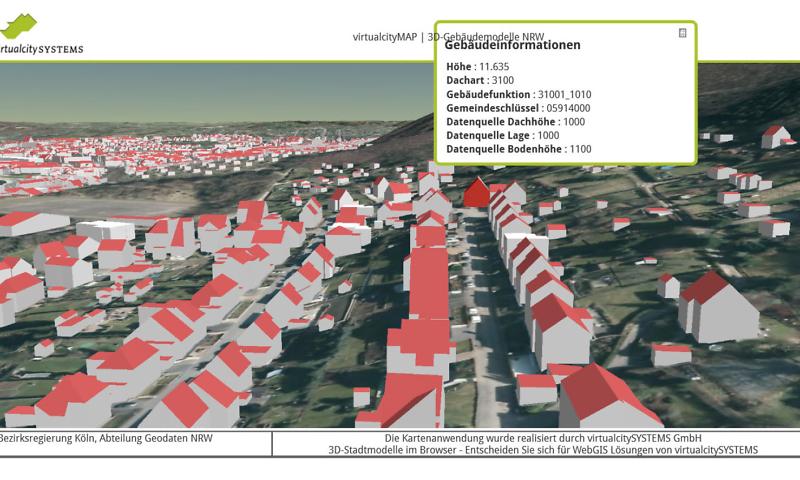 3D-Gebäudemodelle NRW, Hagen, Thüringenstraße