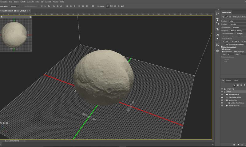 Weltraum 3D-Modelle: Asteroid Vesta