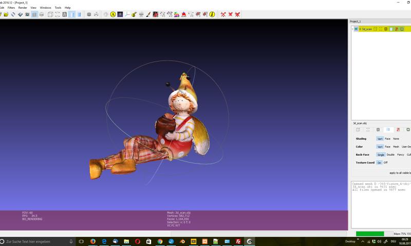 rstellung eines polygonalen 3D-Modells aus Punktwolken unterschiedlicher Scans