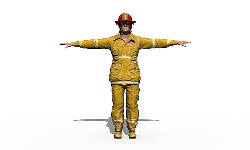 Rendern von 3D-Figuren für die endgültige Ausgabe Du als Feuerwehrmann: 3D-Modelling
