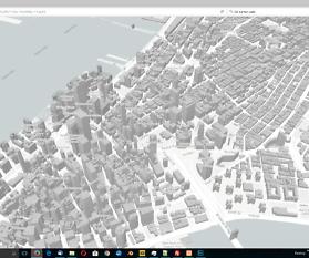 3D-Darstellung der Gebäude