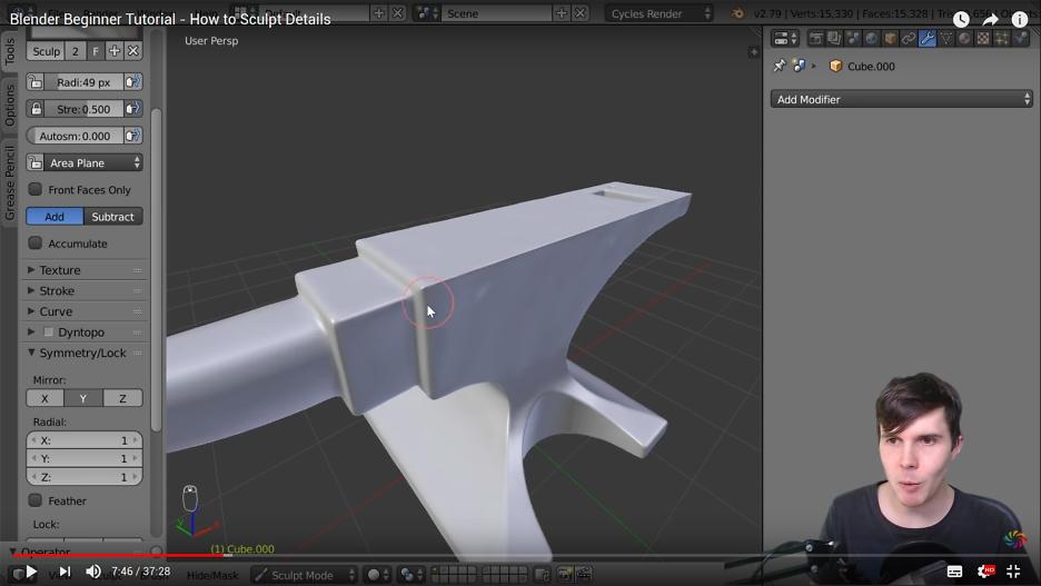 Blender Beginner Tutorial - Wie man Details modelliert