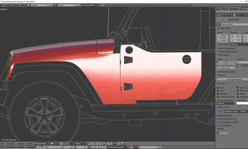 Tag 8: 3D-Modelling von einem Geländewagen 1