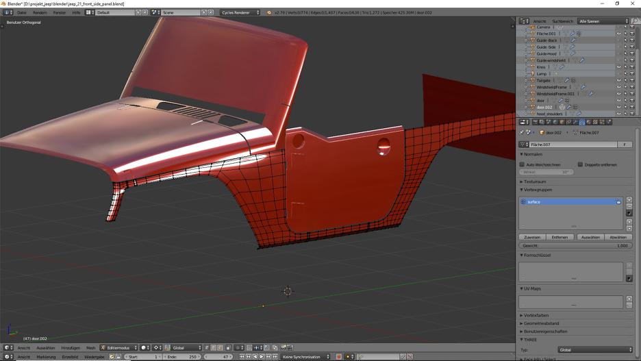 Tag 13: 3D-Modelling von einem Geländewagen 1