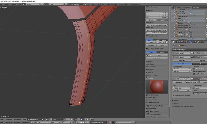 3D-Modelling von einem Geländewagen