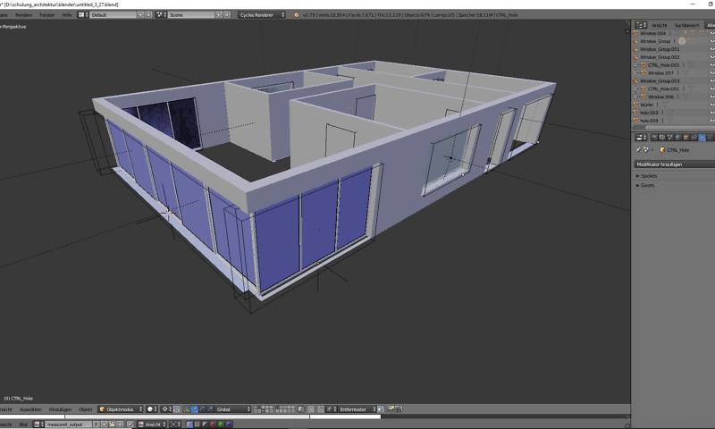 Architektur 3D-Modellierung 1