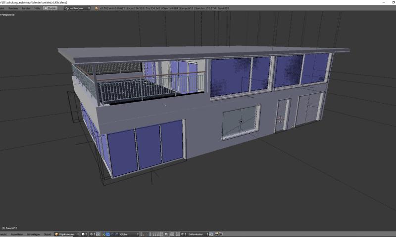 3d modell von einem Haus