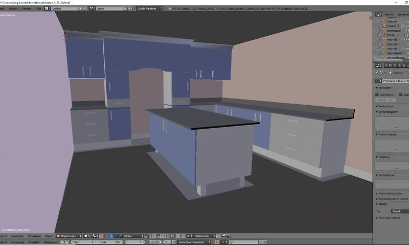 3D-Visualisierung: Küche Part 3 3