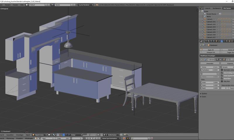3D-Visualisierung: Küche Part 6 1