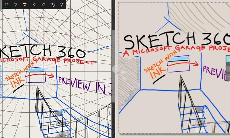 Die neue Sketch 360 App von Microsoft Garage ermöglicht es jedem, 360-Grad-VR-Szenen einfach zu skizzieren .