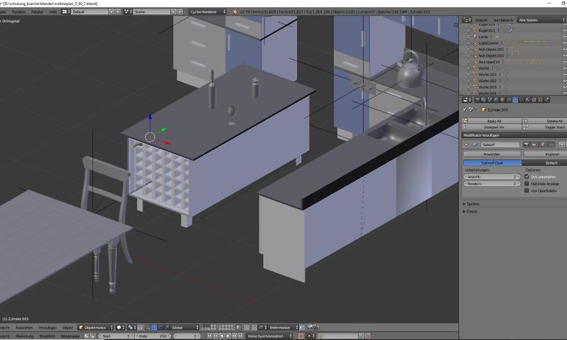 3D-Visualisierung: Küche Part 9 1