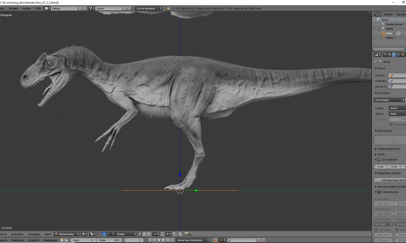 Base Mesh Allosaurus