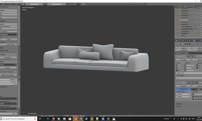 3D-Visualisierung: Sofa für Wartezimmer 2
