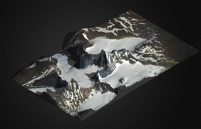 Multicolor 3D-Druck: Galdhøpiggen – 3D Geländekarte