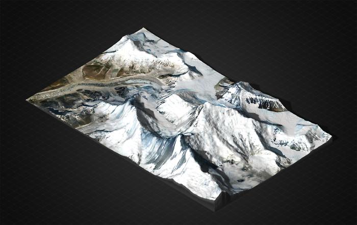 Mount Everest 3D Modell gedruckt