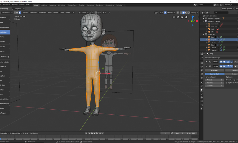 Blender: 3D Modellierung der Füße 1