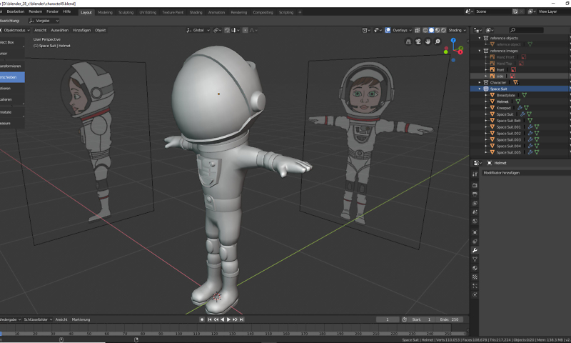 Helm für die Astronautin