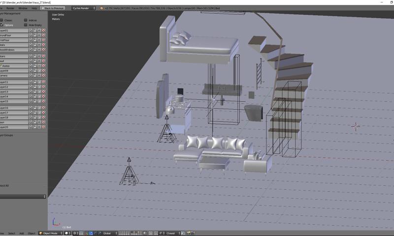 Inneneinrichtung für Badezimmer, Schlafzimmer und Wohnzimmer
