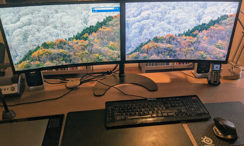 zwei Monitore