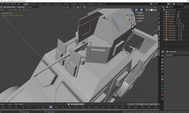 Low Poly 3D Modell für Gamer