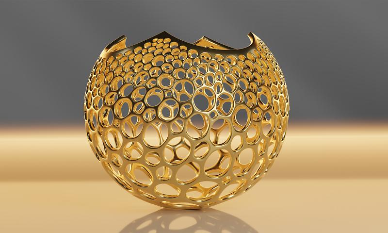 Stereographic Voronoi Sphere