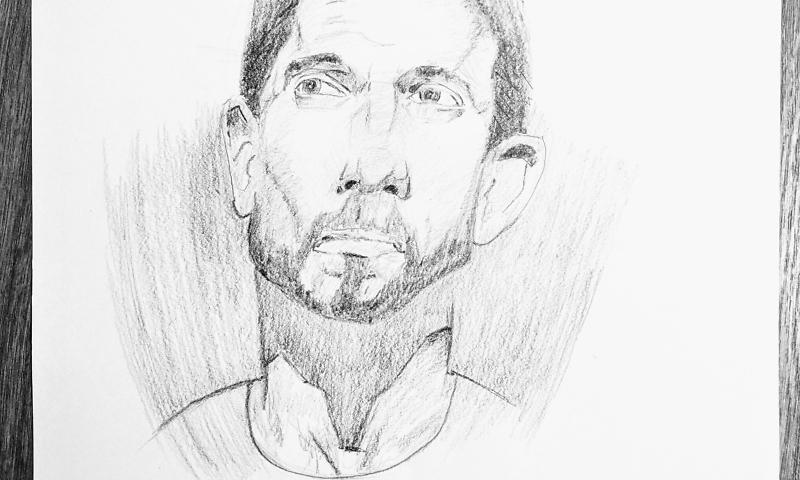 Ich lerne gerade Porträtzeichnen und heute ist Tag 40 der Reise!