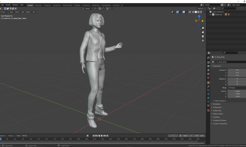 3D Charakterdesign: Claudia