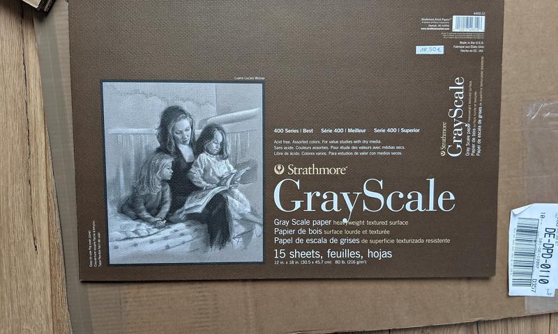 Strathmore 400 Series Gray Scale Blöcke 216g 30,5 x 45,7 cm