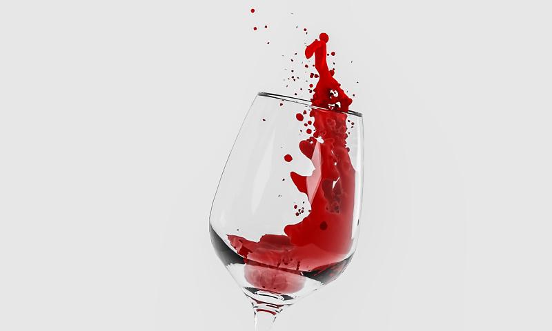 Wein Glas Spritzer