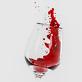 Rotwein Spritzer im Weinglas